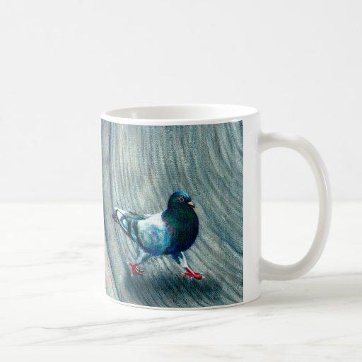 Two Pigeons on NYC street Mug