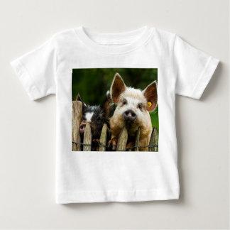 Two pigs - pig farm - pork farms baby T-Shirt