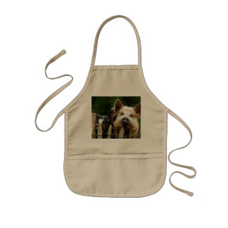 Two pigs - pig farm - pork farms kids apron