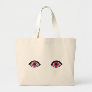 Two Pink Eyes Tote Bags