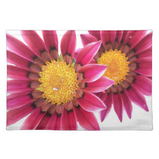 two pink flowers placemats