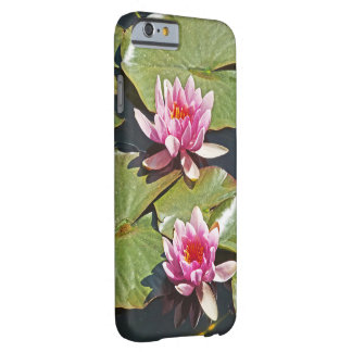 TWO PINK LOTUS BLOSSOMS/CASE FOR iPHONE6/6s Barely There iPhone 6 Case