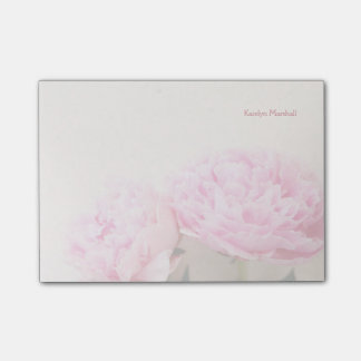 Two pink peonies fade post-it® notes