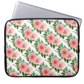 Two Pink Peonies Laptop Sleeve