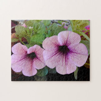 Two Pink Petunias Jigsaw Puzzle