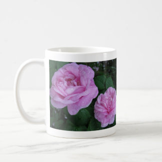 two pink roses, Take time to smell the ro... Basic White Mug