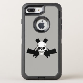 Two Pistols & Skull, Gray Otterbox Case