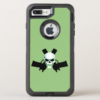Two Pistols & Skull, Green Case Otterbox Case