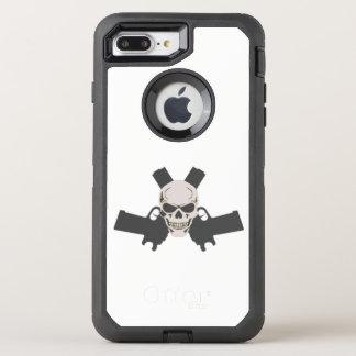 Two Pistols & Skull, White Otterbox Case
