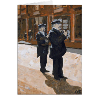 Two Playing Music Card