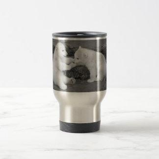 Two Polar bear cubs Travel Mug