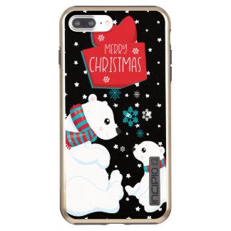 Two Polar Bears Merry Christmas Incipio DualPro Shine iPhone 8 Plus/7 Plus Case