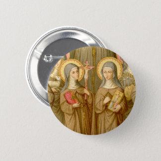 Two Poor Clare Saints (SAU 027) Circular 6 Cm Round Badge