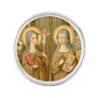 Two Poor Clare Saints (SAU 027) Lapel Pin