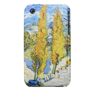 Two Poplars on a Hill Vincent van Gogh iPhone 3 Covers