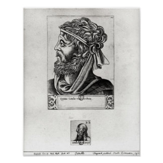 Two portraits of Catullus Poster