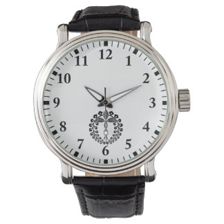 Two provision rattan wrist watch