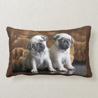 Two Pugs Pillow