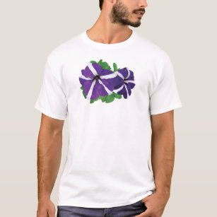 Two Purple and White Petunias T-Shirt