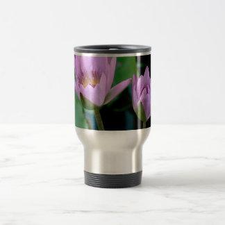 two purple water lilies coffee mug