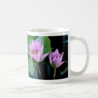 two purple water lilies coffee mugs