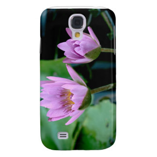two purple water lilies samsung galaxy s4 case