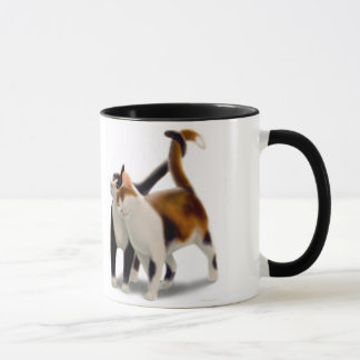 Two Purring Cats Ringer Mug