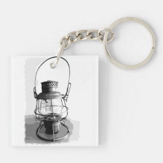 Two Railroad Lanterns Key Ring