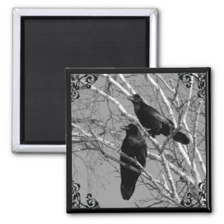 Two Ravens Gothic magnet