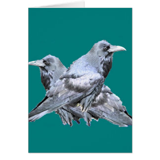Two Ravens teal Gifts Card