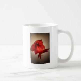 Two red amaryllis flowers coffee mug