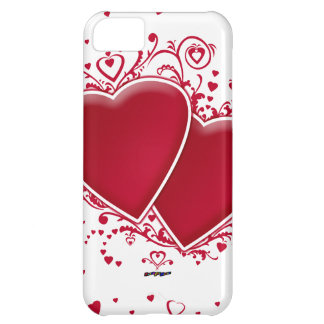 Two Red Hearts For Valentine s Day iPhone 5C Cases