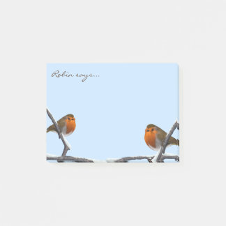 Two Red Robin Bird Post-it® Notes