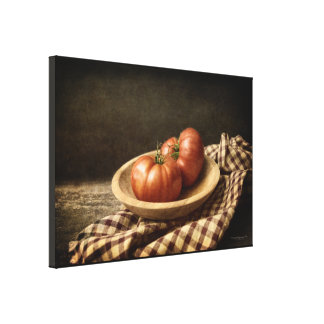 Two Red Tomatoes in a Bowl Canvas Print