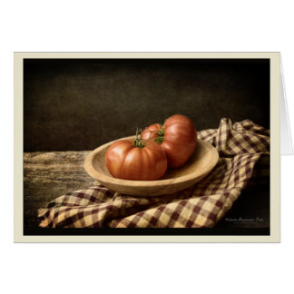 Two Red Tomatoes in a Bowl Card