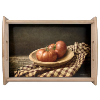 Two Red Tomatoes in a Bowl Serving Tray