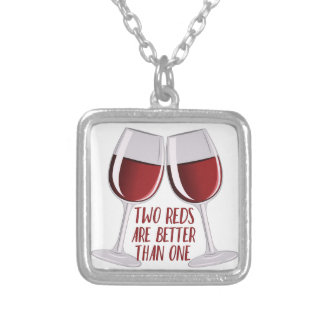 Two Reds Silver Plated Necklace