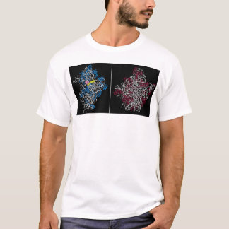 two ribosomal subunits with trna and mrna pieces T-Shirt