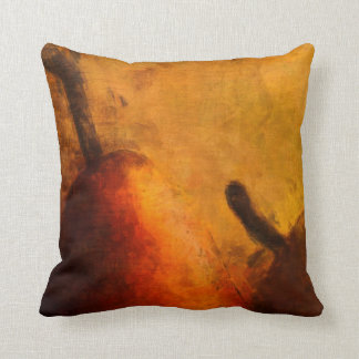 Two Ripe Pears Old World Art Style Throw Pillow