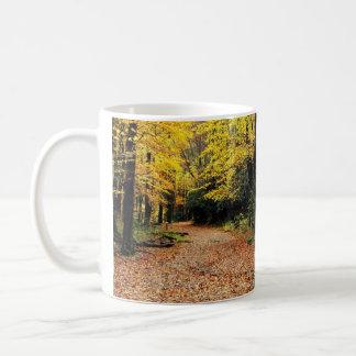 Two Roads In A Yellow Wood - Autumn Coffee Mug