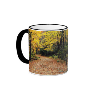 Two Roads In A Yellow Wood - Autumn Ringer Mug