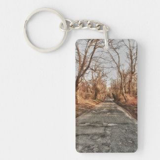 Two Roads in the Woods Double-Sided Rectangular Acrylic Key Ring