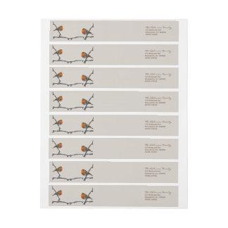 Two Robins Custom Wraparound Return Address Labels