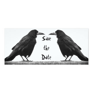 Two Rooks Goth Save the Date Invitation Card