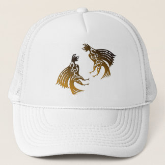 two roosters trucker hat