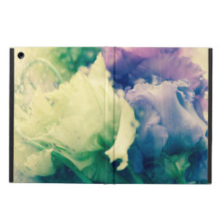 Two roses behind a glass iPad air covers
