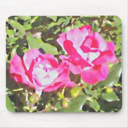 """""""Two Roses"""" Mouse pad by DesignbyKrizRogers"""