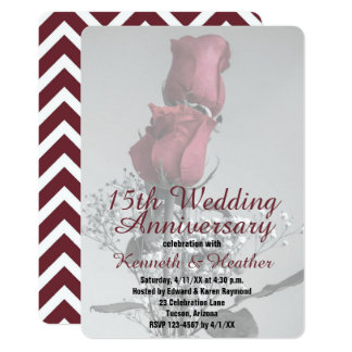 Two Roses Photograph | 15th Wedding Anniversary Card