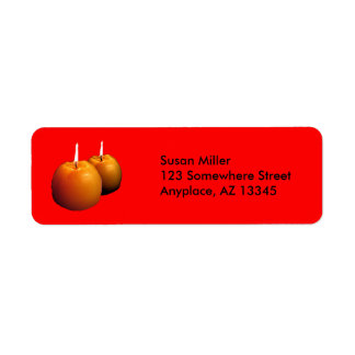 Two round candles Return Adress label Return Address Label