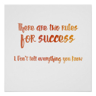 Two Rules for Success Poster